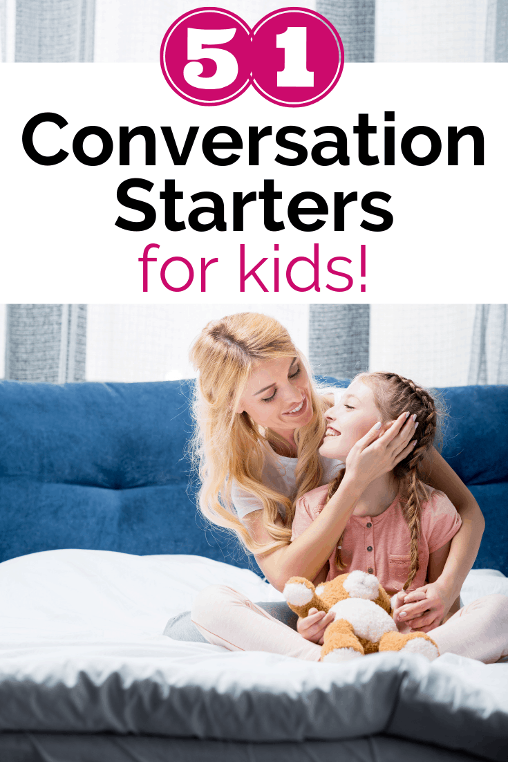 a mother asking her daughter conversation starters for kids on the couch