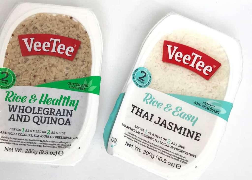 VeeTee rice packages