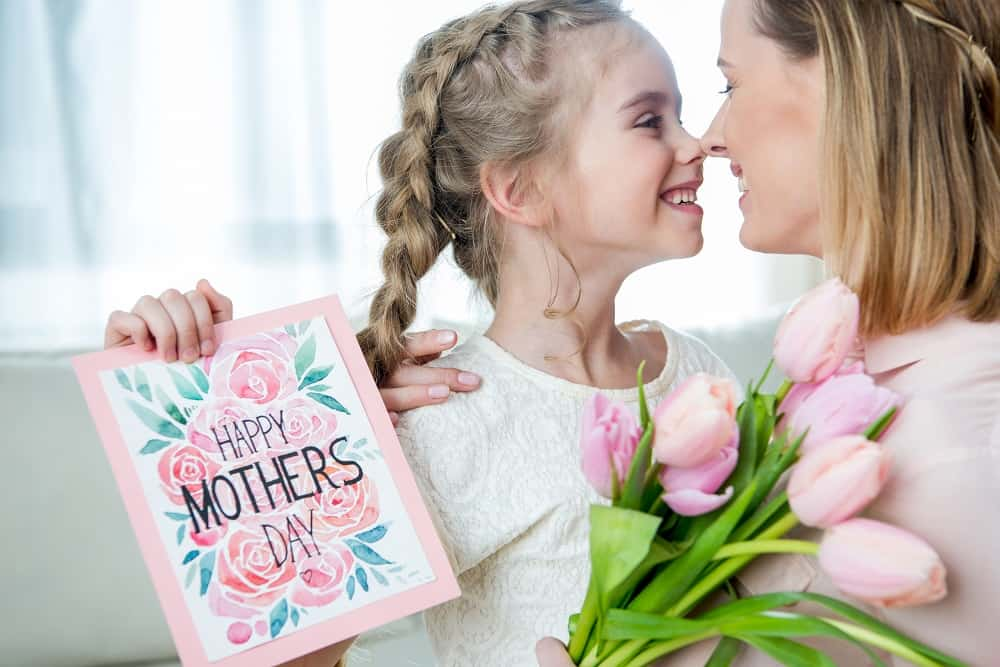 A mother and daughter celebrating mother's day together