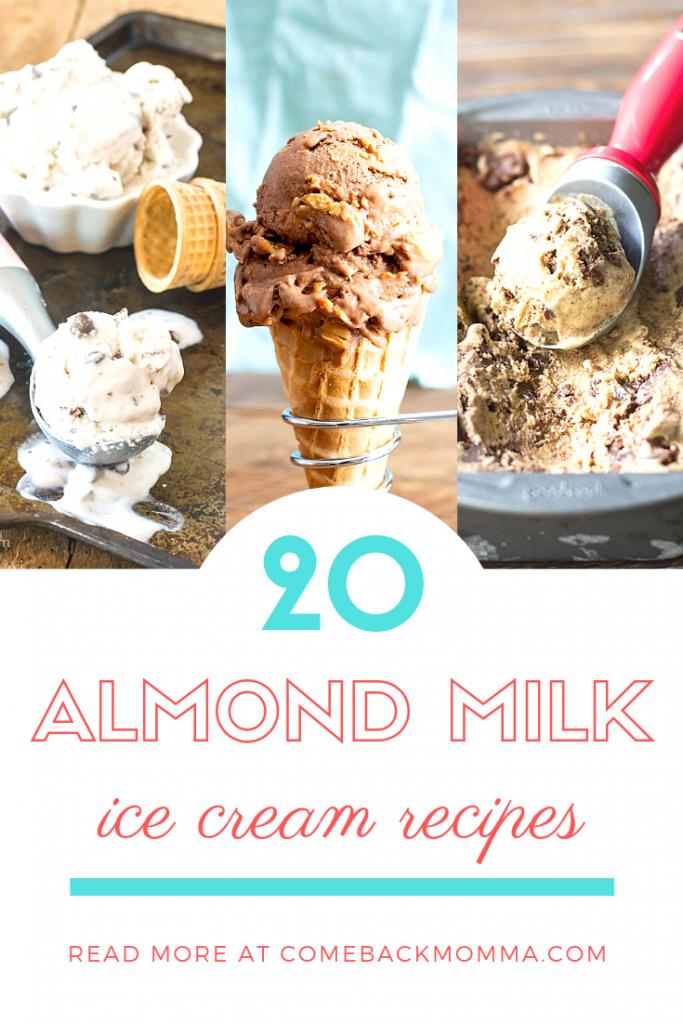 almond milk ice cream
