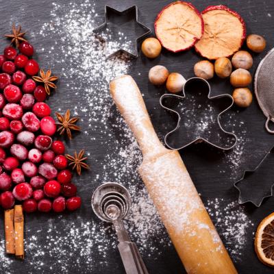 Christmas food on a table
