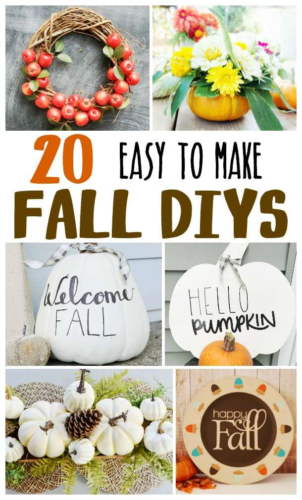 Collage of DIY Fall Decor Ideas