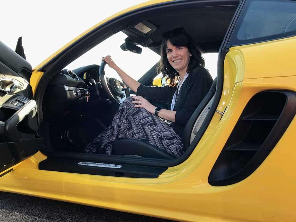 Porsche Experience Center - me in car