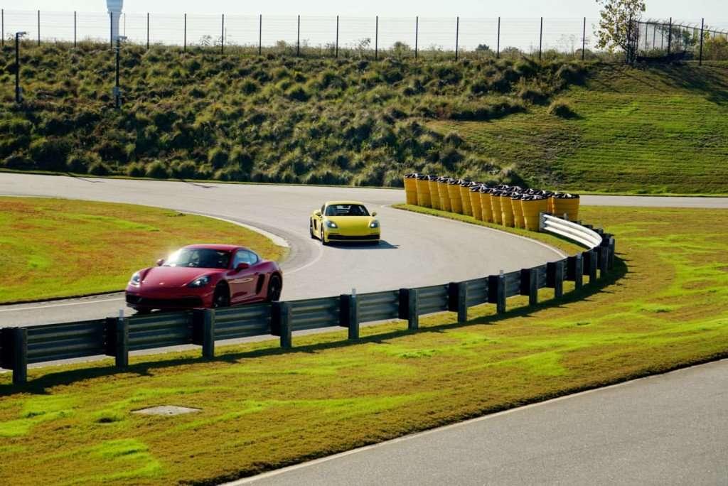 Porsche Atlanta cars on track