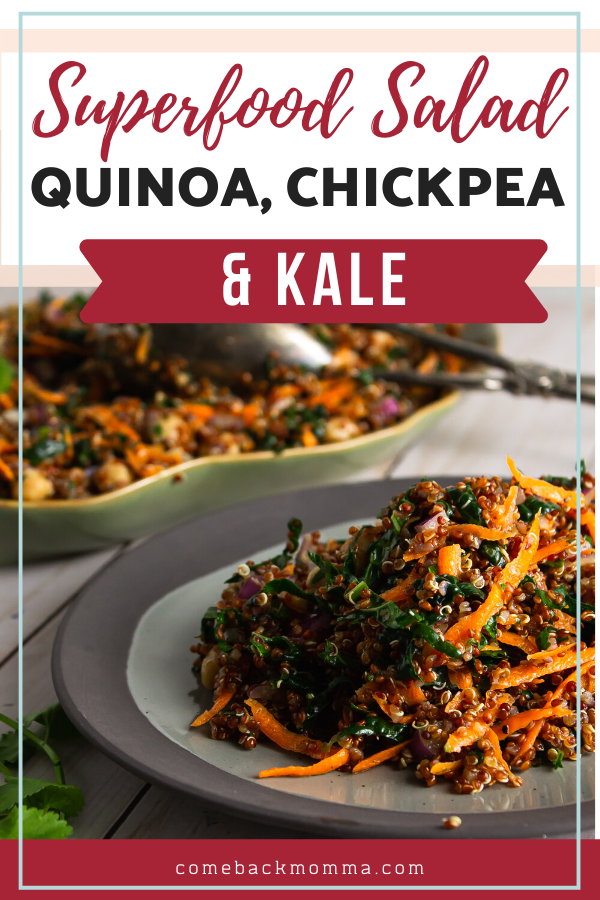 Superfood Salad with Quinoa, Chickpea and Kale