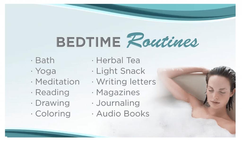 scree free bedtime routine ideas