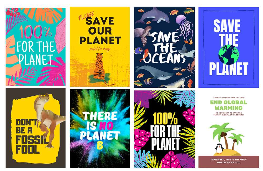 climate change protest posters