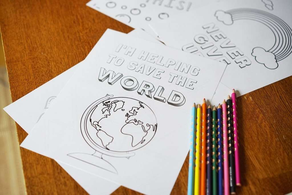 5 Positivity Coloring Pages for Kids