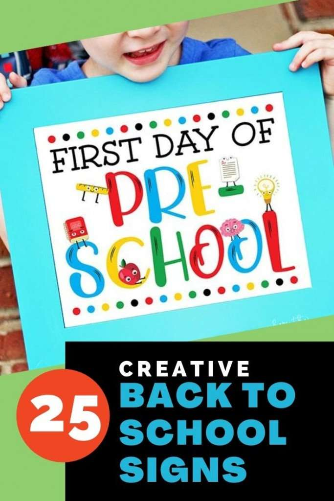 Here's a collection of some printable signs as well as some DIY ideas for your adorable students to hold while they smile for that first day memory.